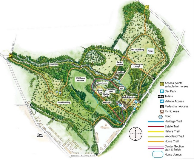 Map of Plean Country Park
